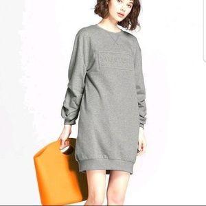NWT Hunter for Target Gray Sweatshirt Dress sz L